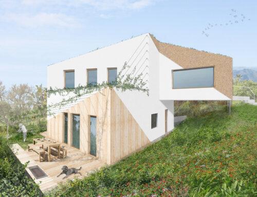 Casa pasiva de madera y corcho